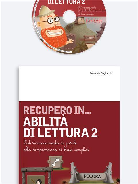RECUPERO IN... Abilità di lettura 2 - App e software per Scuola, Autismo, Dislessia e DSA - Erickson 3