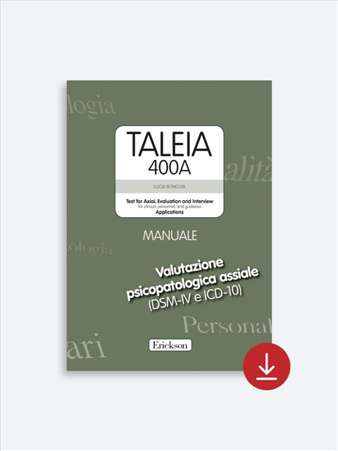 TALEIA-400A - Test for Axial Evaluation and Interview Applications - Strumenti - Erickson 2