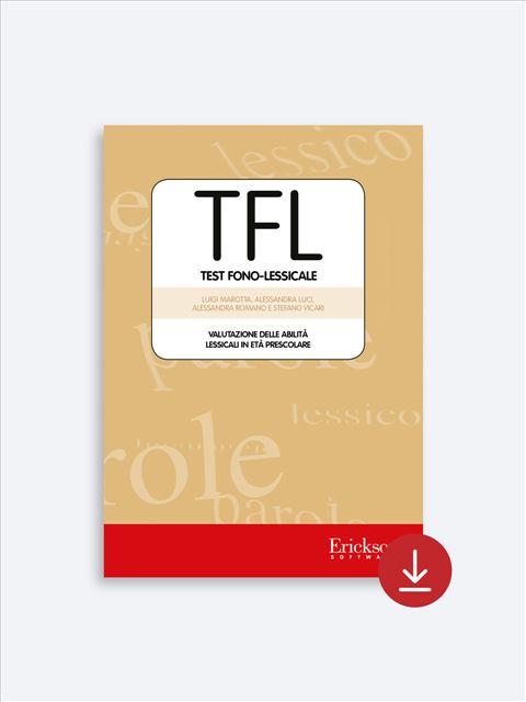 TFL Test fono-lessicale - Test diagnosi autismo, dislessia, discalculia e altri DSA - Erickson 2