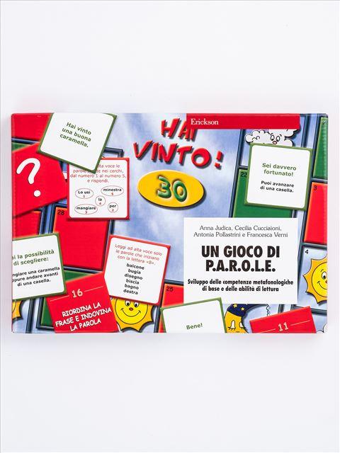 Un gioco di P.A.R.O.L.E. - Prime competenze di letto-scrittura - Libri - App e software - Erickson