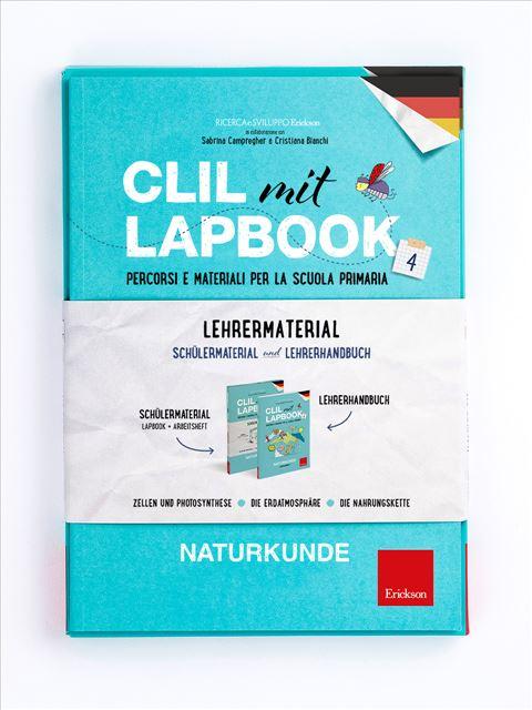CLIL mit LAPBOOK - Naturkunde - Classe quarta - Lingue straniere - Erickson