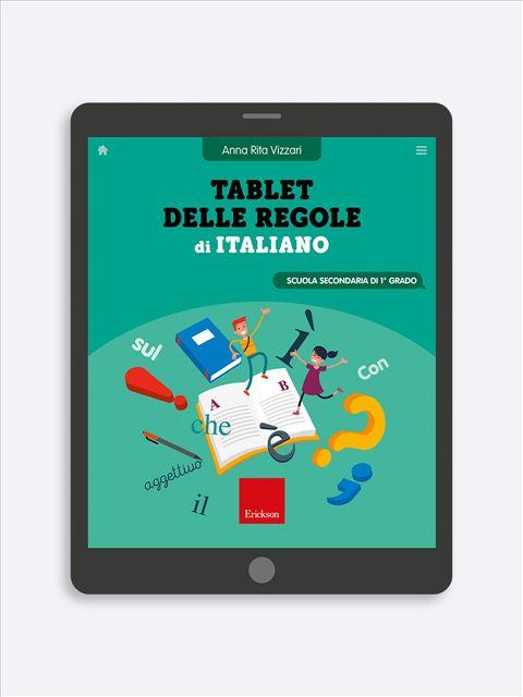 Tablet delle regole di Italiano - Scuola Secondaria di primo grado - Erickson