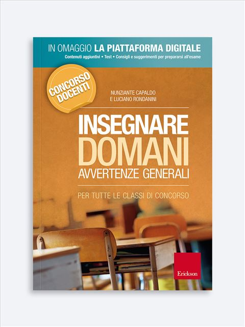 Insegnare Domani - Avvertenze generali Libro + Piattaforma Digitale - Erickson Eshop